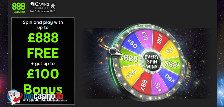888 Casino Up To A 888 No Deposit Bonus Through A œspin The