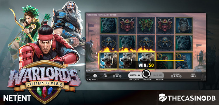 Netent Warlords Crystals of Power Slot Launch Bonuses and Free Spins at Selected Online Casinos