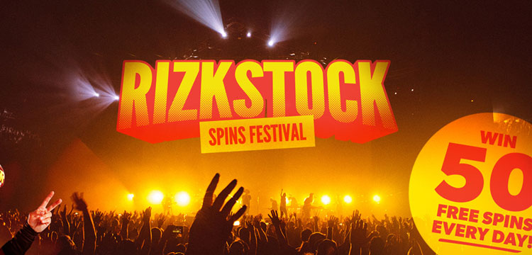 Win up to 250 Free Spins in the Rizkstock Spins Festival at Rizk Casino