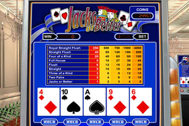 Jacks or Better Video Poker(1 Hand)