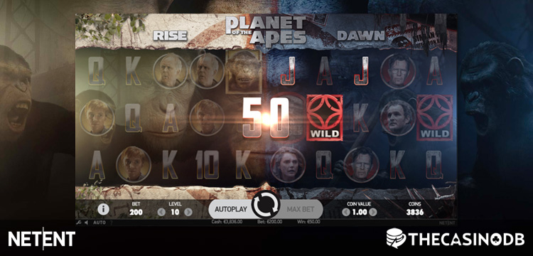 video slot machine planet of the apes
